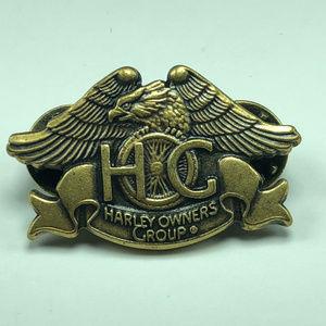 Harley Davidson owners group vintage pinback pin